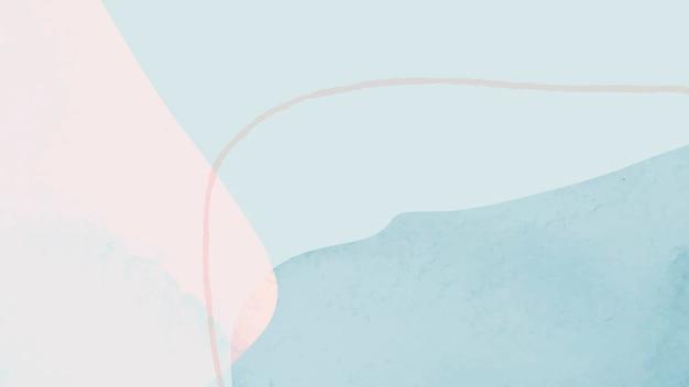 푸른 그늘 배경 벡터에서 추상 수채화