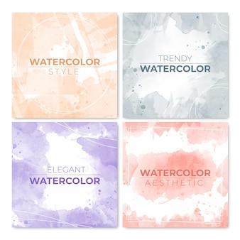 Abstract watercolor instagram posts