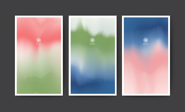 Abstract watercolor modern banner set