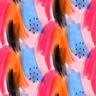 Абстрактный акварельный узор с разными формами
