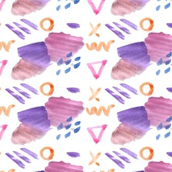 추상 수채화 패턴