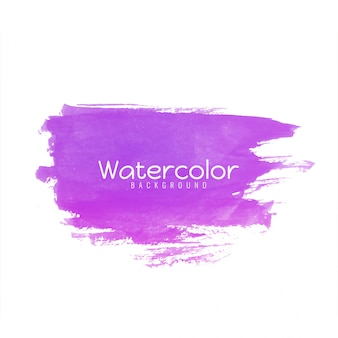 Abstract watercolor pink brush stroke design