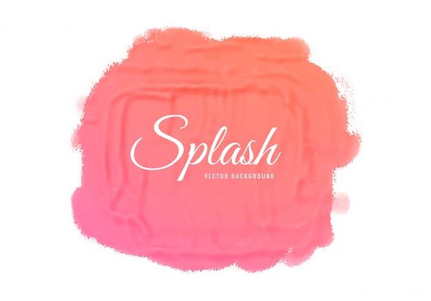 抽象的な水彩ピンクスプラッシュテクスチャデザイン