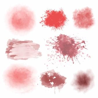 Tratti rosa acquerello astratti