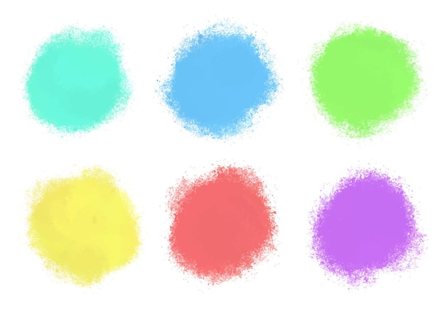 Abstract watercolor round shapes