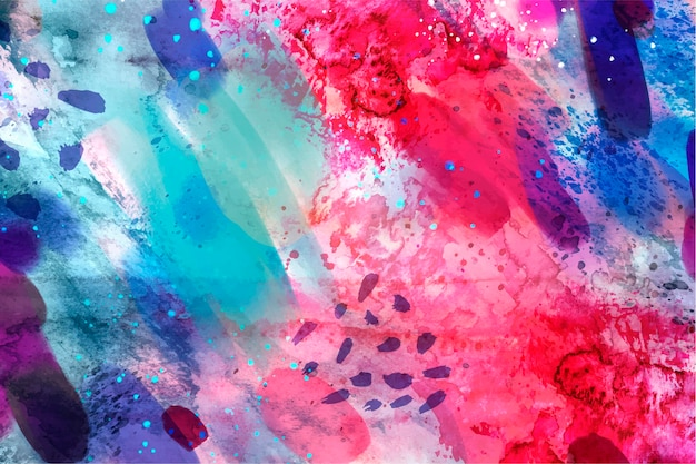Abstract watercolor seamless pattern copy space