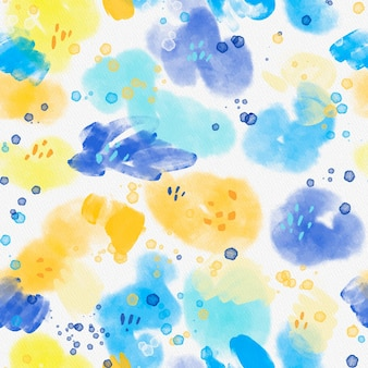 Abstract watercolor seamless pattern on texture