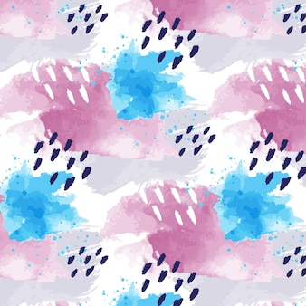 Абстрактная акварель бесшовный образец с точками