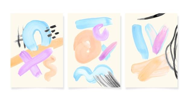 抽象的な水彩図形はパックをカバーしています