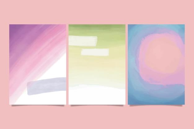 Forme astratte dell'acquerello - copertine