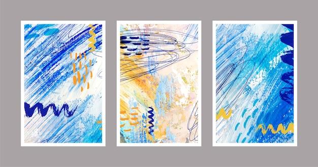 抽象的な水彩図形-カバー