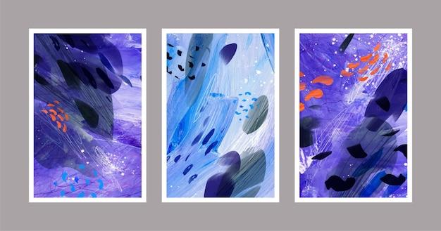 Абстрактные акварельные формы - обложки