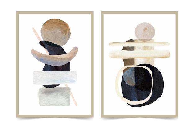 Acquerelli astratti forme copertine