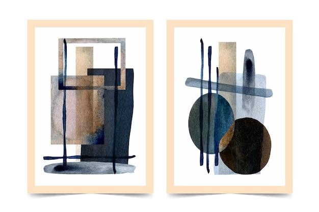 抽象的な水彩図形カバー