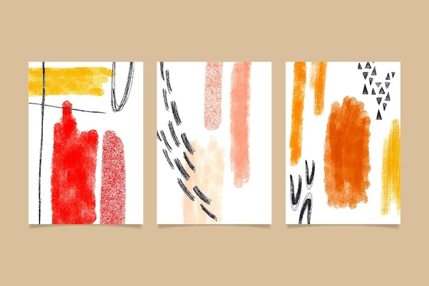 Abstract watercolor shapes - covers