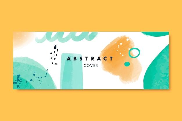 Абстрактный акварельный шаблон обложки для социальных сетей