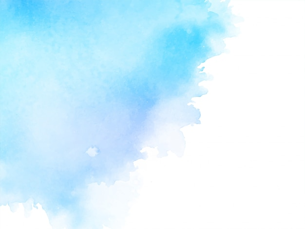 Abstract watercolor soft blue background