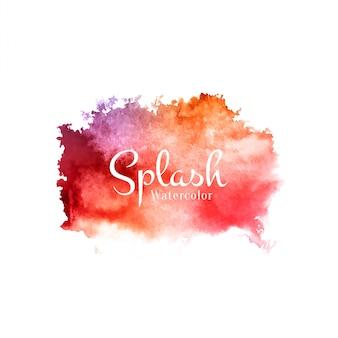Acquerello astratto splash sfondo