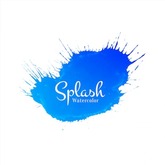 Abstract watercolor splash vector background