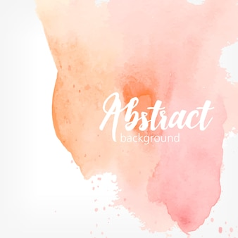 Abstract watercolor stain. peach and pink pastel colors. creative realistic background with place for text.