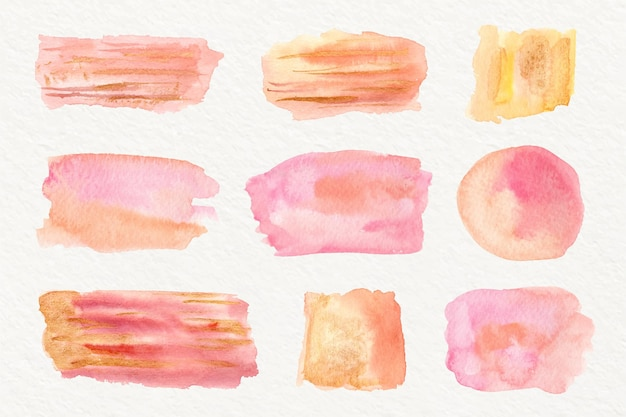 Abstract watercolor stains collection