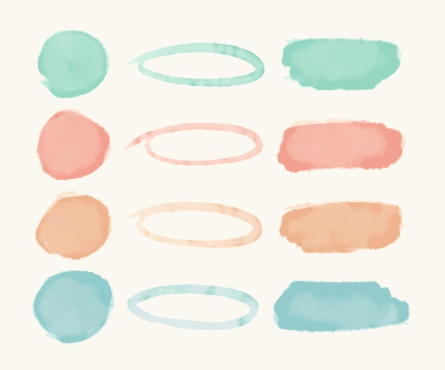 Abstract watercolor stroke pack