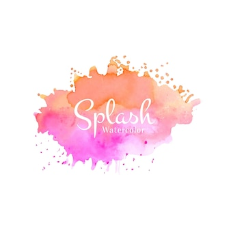 Abstract watercolor stylish colorful splash design