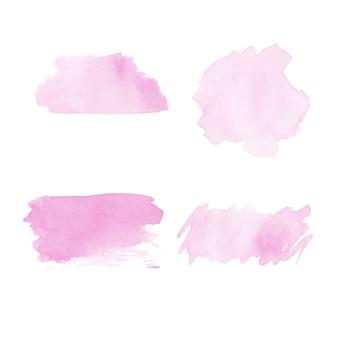 Abstract watercolor template set vector design