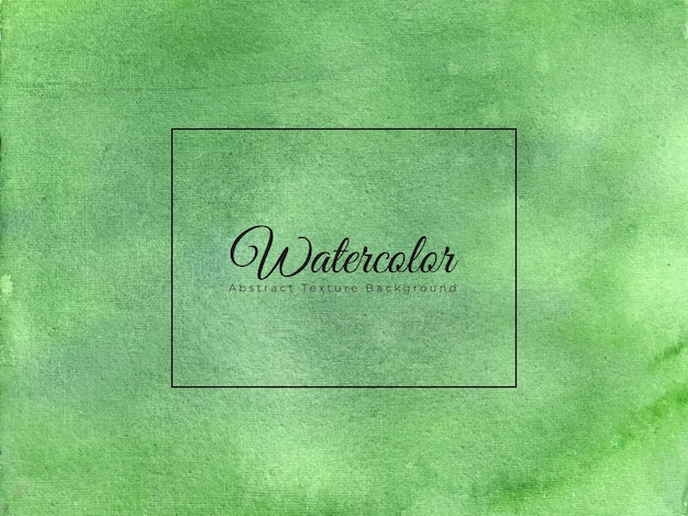 Abstract watercolor texture background in green color