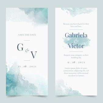 抽象的な水彩結婚式の招待状