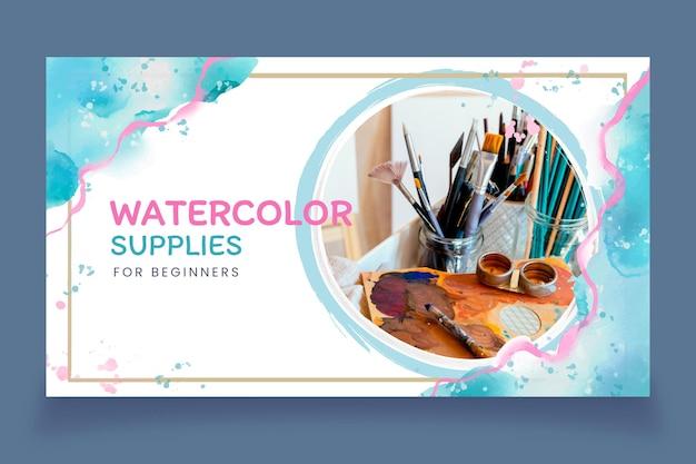 Abstract watercolor youtube thumbnail