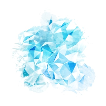 Abstract watercolour texture with low poly overlay effect