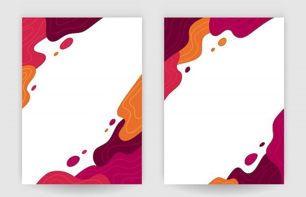 Abstract wave in autumn tone, cool vector background