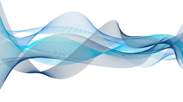 Abstract wave background blue back white