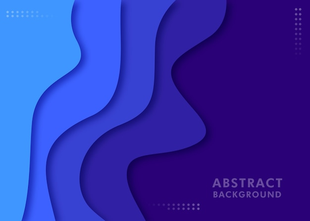 Abstract wave background on blue color