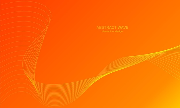 抽象的な波の背景。波線とカラフルな背景。