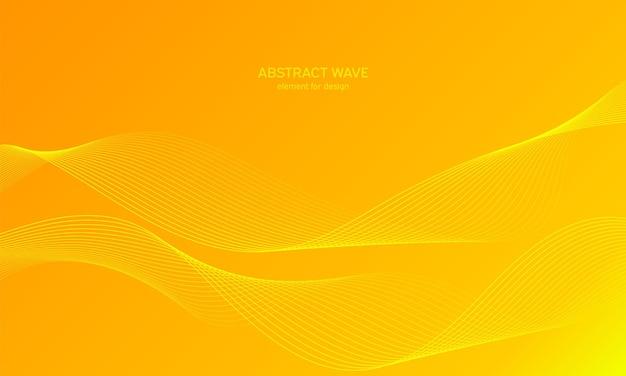 抽象的な波の背景。波線とカラフルな背景。 Premiumベクター