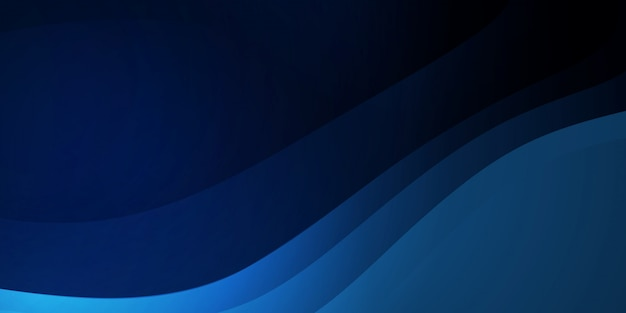 Abstract wave background dark blue with modern corporate concept