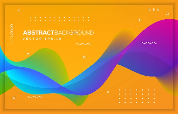 Abstract wave background design with modern concept