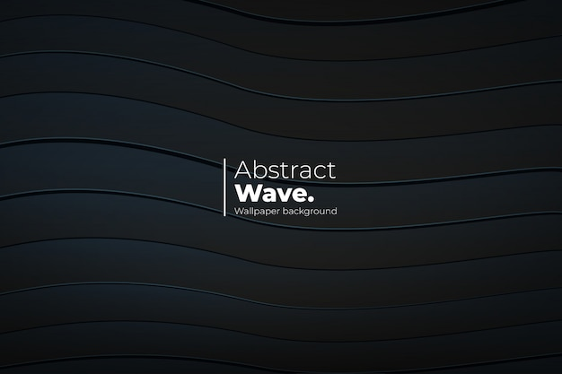 3 dラインと抽象的な波背景