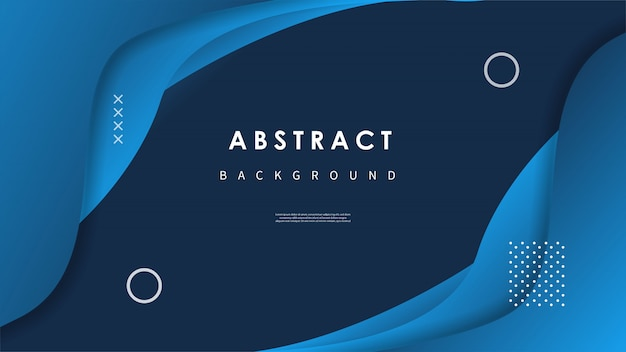 Abstract wave background with colorful shapes