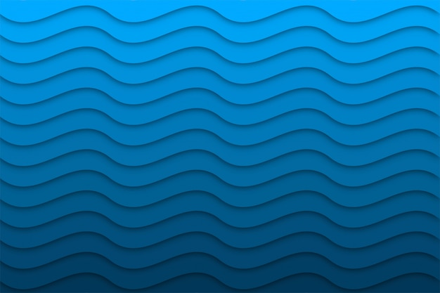 Abstract wave background with paper cut shapes,