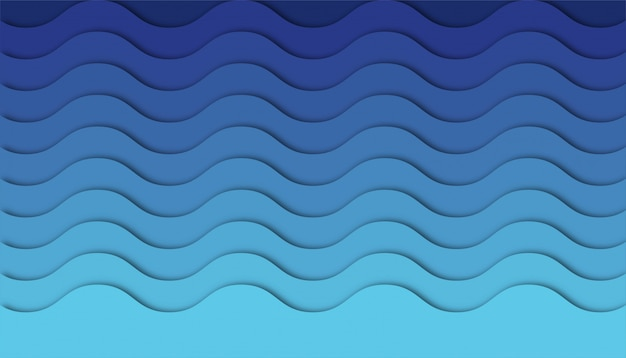 Abstract wave background with paper cut shapes.