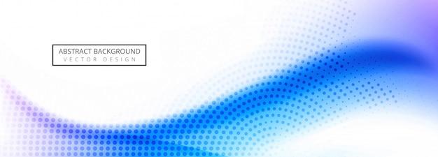 Абстрактная волна баннер шаблон вектор
