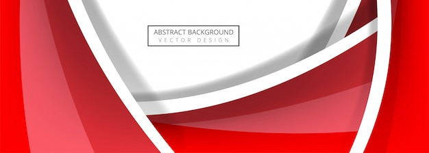 Abstract wave banner template vector