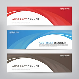 Abstract wave banner template