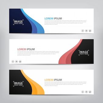 Abstract wave banner template.