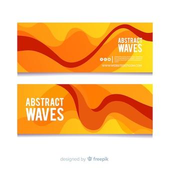 Абстрактная волна баннер