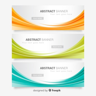 Abstract wave banners