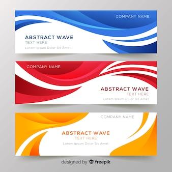 Абстрактные баннеры волны